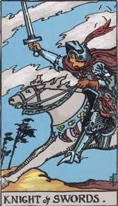 tarot karte vitez mačeva